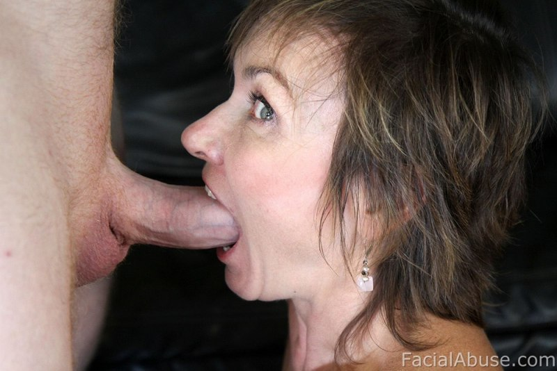 Older Lady Gets Her Face Fucked Deep and Hard
